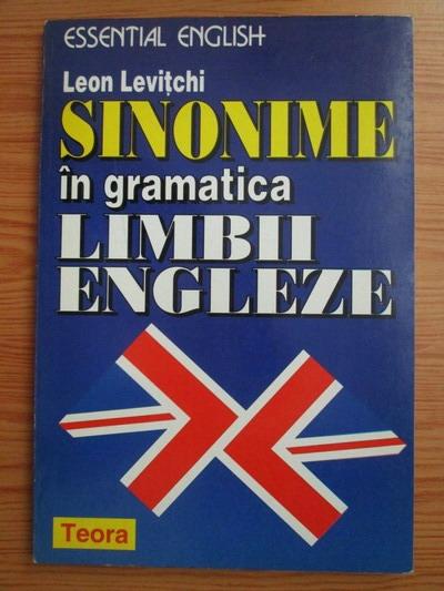 Anticariat: Leon Levitchi - Sinonime in gramatica limbii engleze