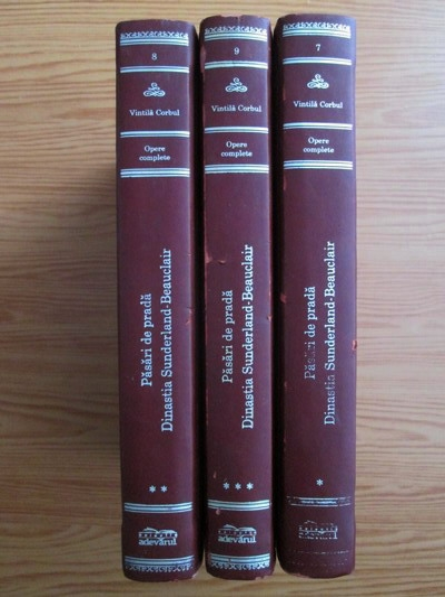 Anticariat: Vintila Corbul - Pasari de prada (3 volume, Adevarul de lux)