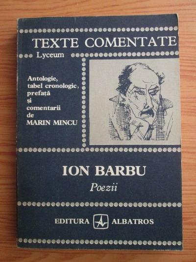 Anticariat: Ion Barbu - Poezii (texte comentate)