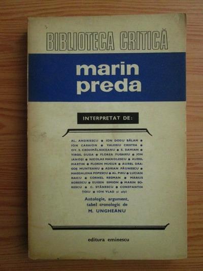 Anticariat: Marin Preda (biblioteca critica)