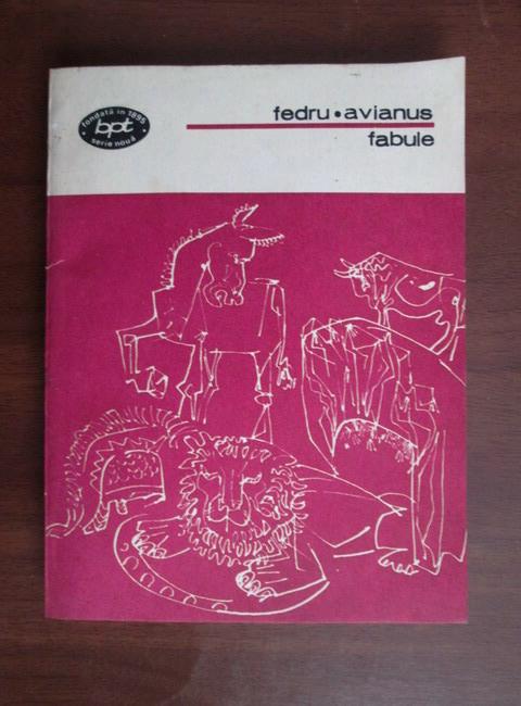 Anticariat: Fedru, Avianus - Fabule