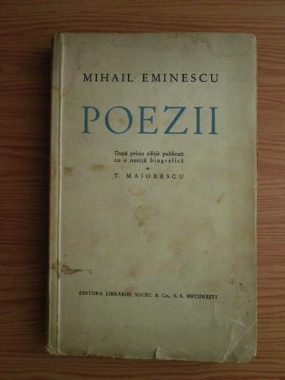 Anticariat: Mihai Eminescu - Poezii (editie interbelica)