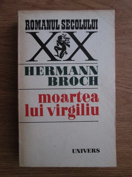 Anticariat: Hermann Broch - Moartea lui Virgiliu
