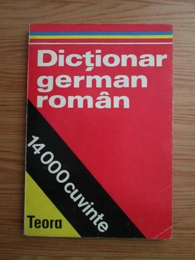 Anticariat: Dictionar german-roman 14.000 cuvinte