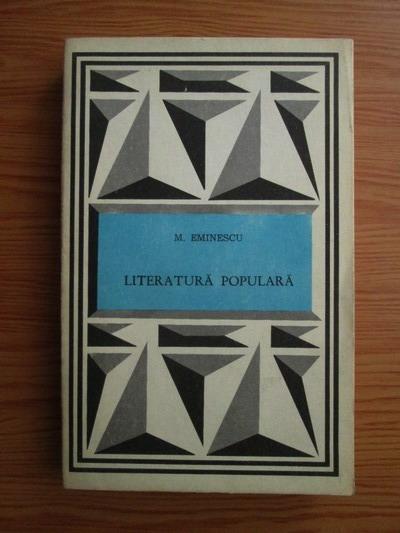 Anticariat: Mihai Eminescu - Literatura populara