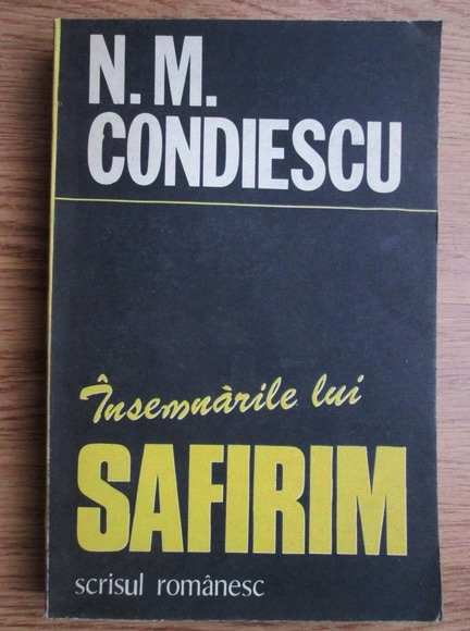 Anticariat: N. M. Condiescu - Insemnarile lui Safirim