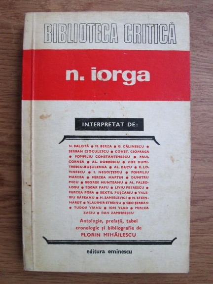 Anticariat: N. Iorga