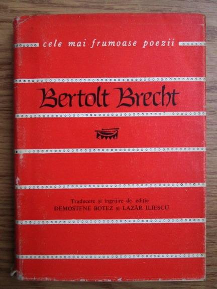 Anticariat: Bertolt Brecht - Versuri