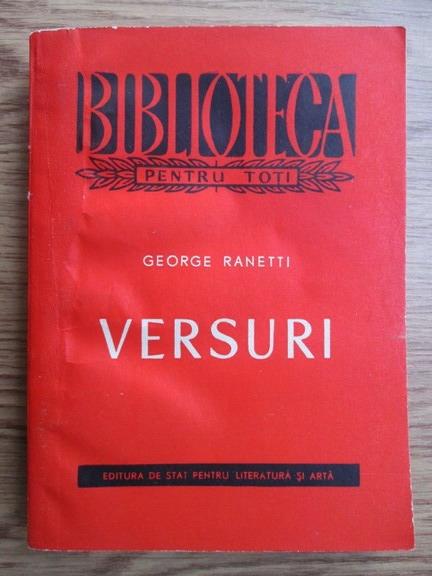 Anticariat: George Ranetti - Versuri