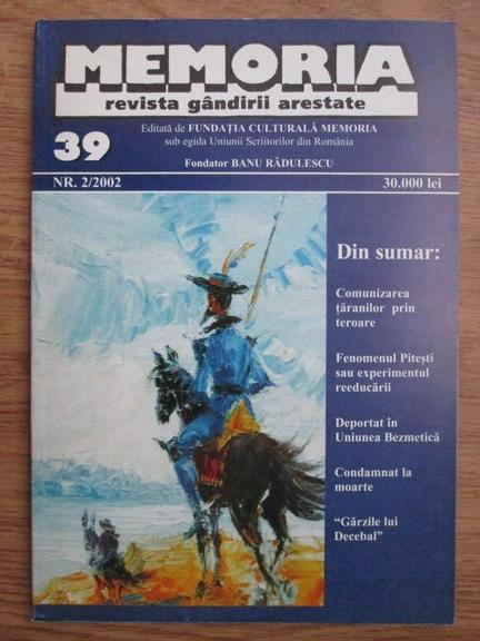 Anticariat: Memoria. Revista gandirii arestate (nr. 39)