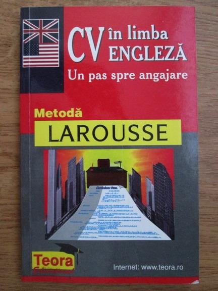 Anticariat: Roland Marie Claude, Mast Grand Martha - CV in limba engleza. Un pas spre angajare