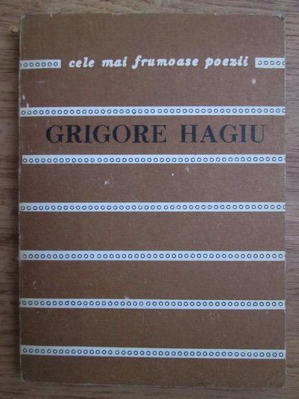 Anticariat: Grigore Hagiu - Poeme