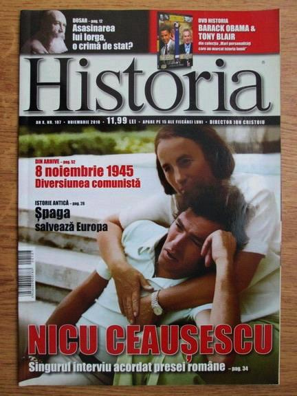 Anticariat: Revista Historia anul X, nr. 107, noiembrie 2010