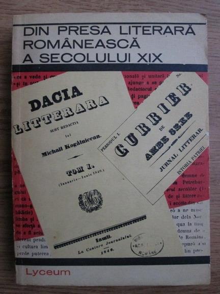 Anticariat: Din presa literara romaneasca a secolului XIX