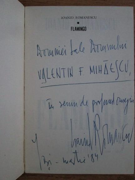 Anticariat: Ioanid Romanescu - Flamingo (cu autograful autorului)