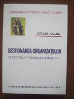 Anticariat: Lucian Culda - Gestionarea organizatiilor. Utilitatea optiunilor fondatoare