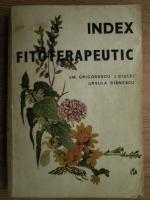 Emanoil Grigorescu - Index fitoterapeutic