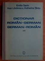 Emilia Savin - Dictionar roman-german. german-roman (volumul 2)