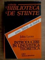John Lyons - Introducere in lingvistica teoretica