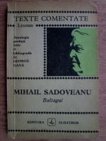 Anticariat: Mihail Sadoveanu - Baltagul (texte comentate)