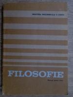Anticariat: Mircea Flonta - Filosofie. Manual pentru licee