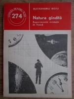 Anticariat: Alexandru Boiu - Natura gandita. Experimente mintale in fizica