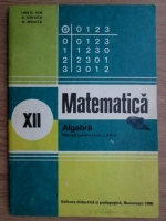 Ion D. Ion - Matematica. Algebra, manual pentru clasa a XII-a