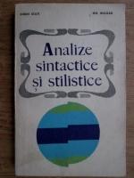 Sorin Stati, Gh. Bulgar - Analize sintactice si stilistice