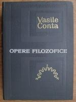Vasile Conta - Opere filozofice