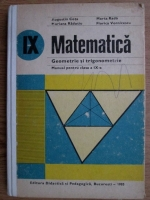 Anticariat: Augustin Cota - Matematica. Manual pentru clasa a IX-a. Geometrie si trigonometrie