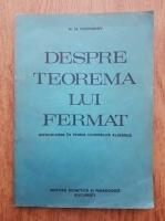 Anticariat: M. M. Postnikov - Despre teorema lui Fermat