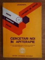 Cercetari noi in apiterapie. Al 2-lea simpozion international de apiterapie Bucuresti Romania