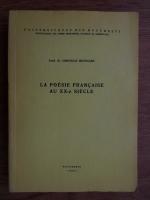 Cornelia Bejenaru - La poesie francaise au XX-e siecle