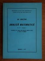 Gheorghe Siretchi - Analiza matematica. Elemente de teoria multimilor, numere reale si serii de numere (volumul 3, fascicola 1)
