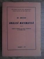 Gheorghe Siretchi - Analiza matematica. Exercitii avansate de calcul diferential si integral real (volumul 2)