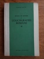 Mircea Seche - Schita de istorie a lexicografiei romane (volumul 2)