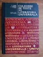 Anticariat: N. I. Barbu, Ovidiu Drimba, Romul Munteanu - Culegere de texte din literatura universala
