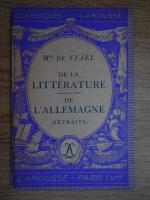 Anticariat: Doamna de Stael - De la litterature de l'Allemagne