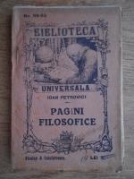 I. Petrovici - Pagini filosofice