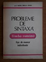 Maria Emilia Goian - Probleme de sintaxa limba romana