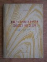 I. P. Florescu - Planul de operatii in industria produselor finite din lemn