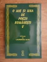 Laurentiu Ulici - O mie si una de poezii romanesti (volumul 5)