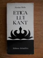 Anticariat: Niculae Bellu - Etica lui Kant