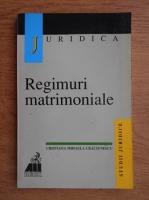 Anticariat: Cristina Mihaela Craciunescu - Regimuri matrimoniale