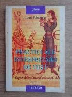 Ioan Panzaru - Practici ale interpretarii de text