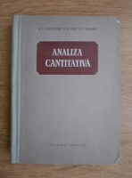 Anticariat: E. V. Alexeevski - Analiza cantitativa