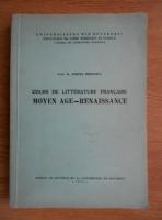 Anticariat: Sorina Bercescu - Cours de litterature francaise. Moyen age-renaissance