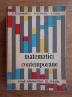 Anticariat: Vasile Stefanescu - Matematici contemporane