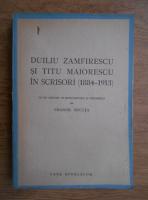 Anticariat: Duiliu Zamfirescu si Titu Maiorescu in scrisori (1884- 1913) (1944)