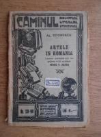 Anticariat: Alexandru Odobescu - Artele in Romania (1924)